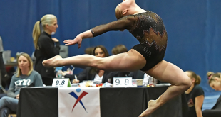 Nitzan at the 2015 State Championships. Photo courtesy of http://www.gym-style.com/leahnitzan