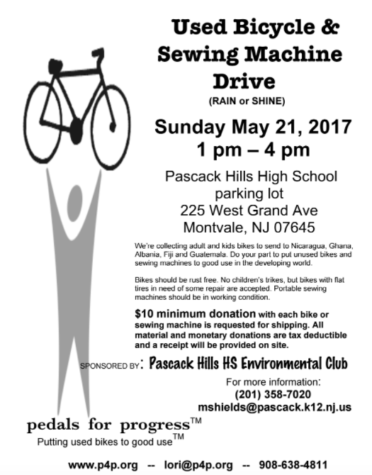 PH Environmental Club hosts our annual bike and sewing machine collection