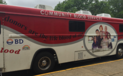 Blood Trucks Park At Hills For Annual Blood Drive