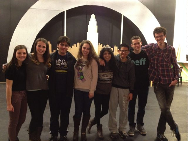 Pictured left to right: Grace Johnson, Sara Biddle, Zach Solon, Bonnie Harris, Gabrielle Liriano, Samuel Dickson, Keith Gliksman, and David Riverol