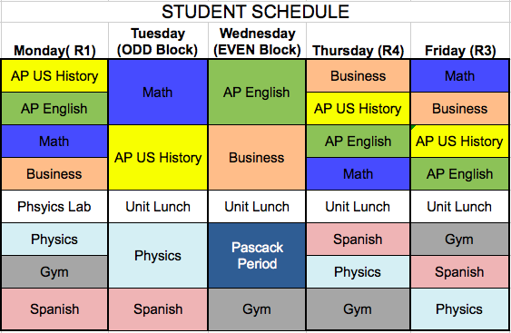 The Pascack Schedule - Thoughts from Mr. DeMarrais