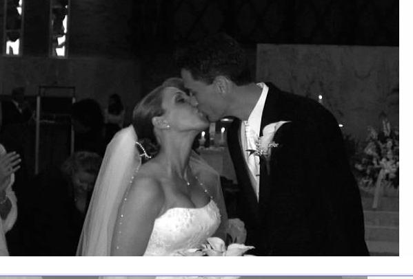 Mr. and Mrs. Goodman's wedding photo