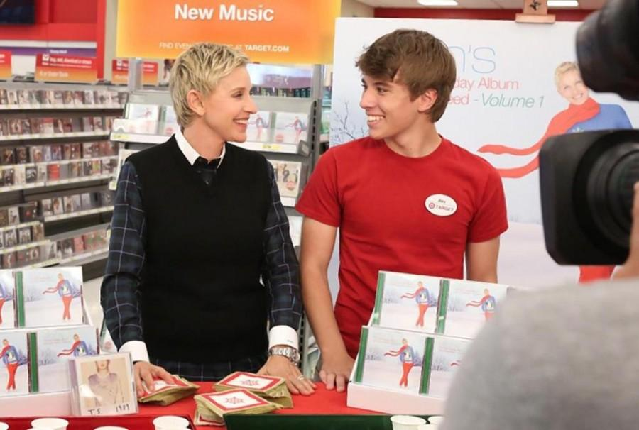 Alex from Target with Ellen Degeneres