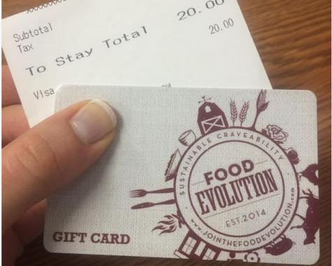 TRAILBLAZER CONTEST: $20 GIFT CARD TO FOOD EVOLUTION