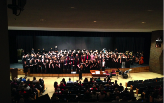 PHHS band and choir perform at the concert. Photo courtesy of PHHS.