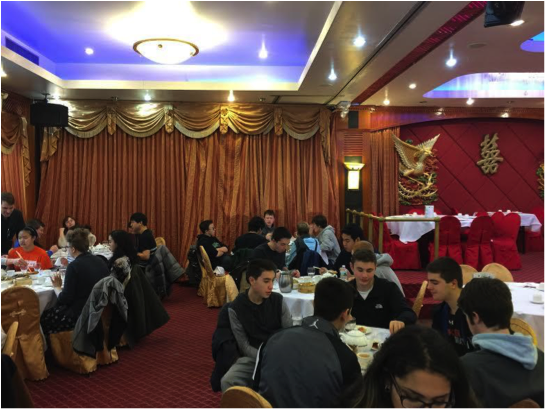 Chinese Students Take a Trip to Chinatown