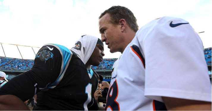 Two of the top quarterbacks, Cam Newton (left) and Peyton Manning (right), will face off February 7 for the Super Bowl trophy. (Photo from www.nydailynews.com)