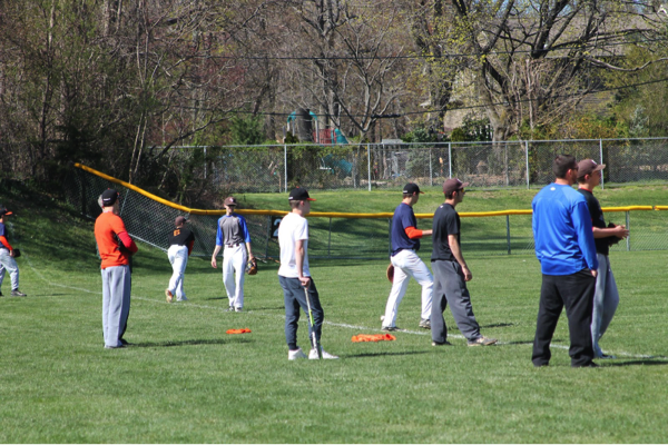 PHHS baseball practice | photo by Olivia Uribe
