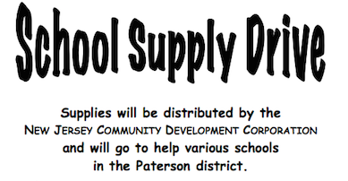 All about the Paterson School Supply Drive