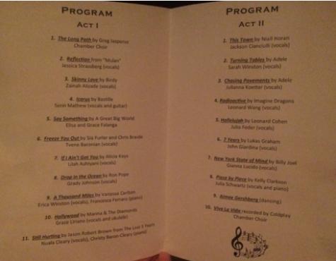 Program from Talent Night (Credit: PHHS Trailblazer)