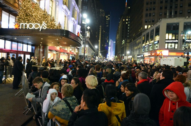 Shoppers line up outside Macy's in New York on Thanksgiving Night. Image Credit: Flickr