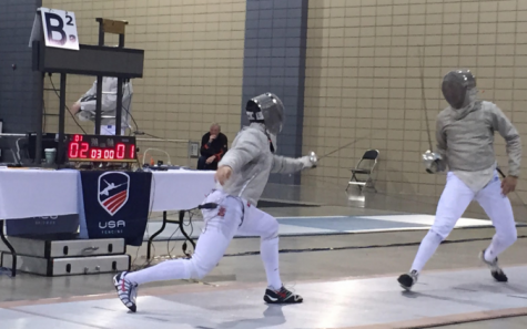 Fifth grade student transformed to fencing star
