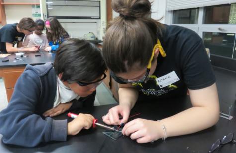 Pascack Pi-oneers help children build solar lights