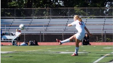 Rebecca Seickel plays on the varsity soccer team.