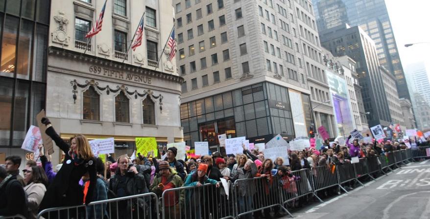 Women's March NYC. Photo by Emma Lustigman
