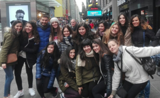 Exchange students from Don Fadrique in New York City. Photo by Leyre Pérez Quiroz.