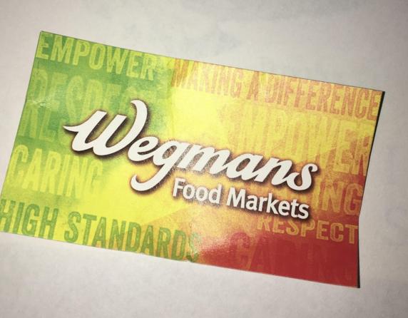 Wegmans application card. Photo by Melanie Meisner.