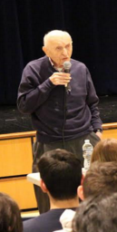 Ray Fishler sharing his story with the students. Photo by Matthew Wikfors.