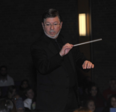 Dr. Christian Wilhjelm conducting. Photo by Wilhjelm.