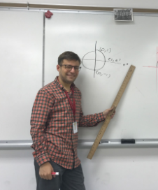 Michael Lingle teaching the Algebra II class trigonometry. Photo by Amber Leung.