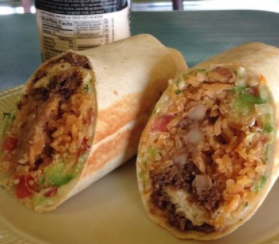 A classic El Azteca burrito. Photo courtesy of yelp.com