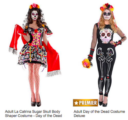 The variety of women's Halloween costumes in Party City, showing that women should not be limited to both ends of the spectrum. Photo by Party City.