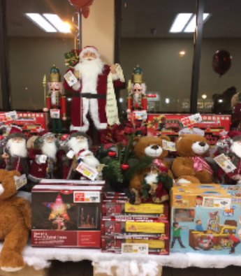 Photo Credit: Jolie Newman  Hillsdale's ShopRite dedicating an area to all-things Christmas, in early November.