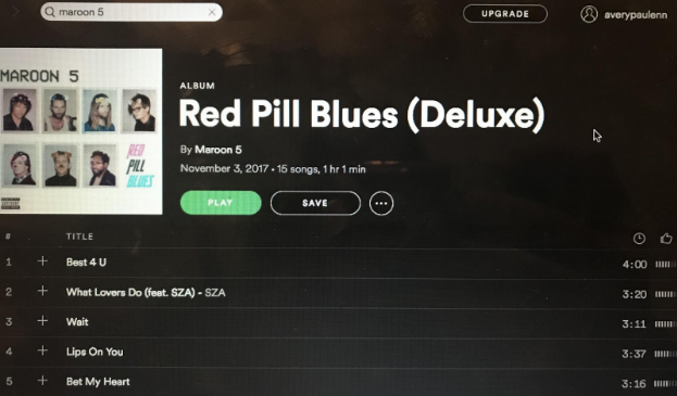 "You Certainly Won't be Blue from Maroon 5's New Album, ""Red Pill Blues"""