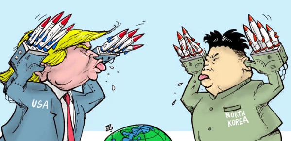 Photo credit: Cartoon by Emad Hajjaj. Photo by The Mercury News.