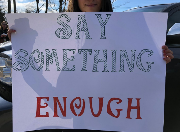 Photo of Pascack Hills student's poster to fight for gun laws by Melanie Meisner
