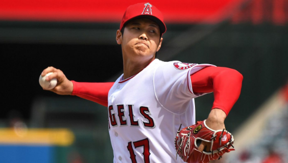 Angels' Breakout Rookie Sensation Shohei Ohtani. (Photo credit to The Los Angeles Times)