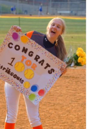 Hills Softball Pitcher Tori Favorito Records 100th Strikeout