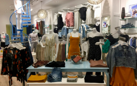 One of the main displays at Vanilla Sky showing some of the latest trends for the spring season.  Photo: Carly Haberfield