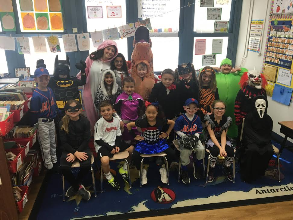 Above is Senior Abby Gordon and her 2nd grade class on Halloween