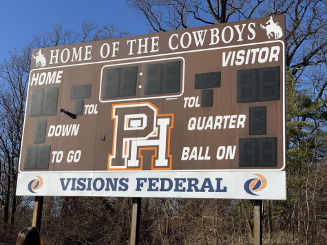 The football scoreboard on Pascack Hills