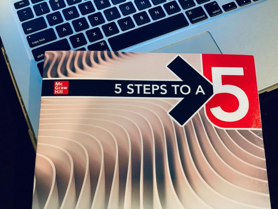 The 5 Steps to a 5 preparation book for the AP Physics 1 exam. Teachers of the course recommend it to students for studying.