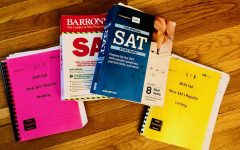 Study materials for the SAT, including the Barron's SAT book, which is widely used by students to prepare.