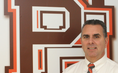 Hills Principal Glenn deMarrais, in a photo taken upon the announcement of his retirement in January. deMarrais has since been approved to step in as Valley's principal next school year.