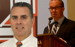 Pascack Hills High School principal Glenn deMarrais pictured left. Superintendent Erik Gundersen pictured right.
