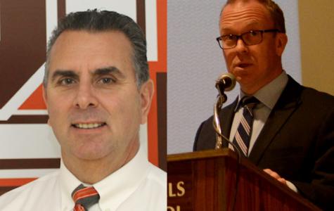Pascack Hills High School principal Glenn deMarrais pictured left. Superintendent Erik Gundersen pictured right.