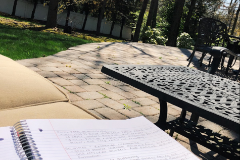 Going outside while doing schoolwork could be a nice change of pace and could in a way be more productive.