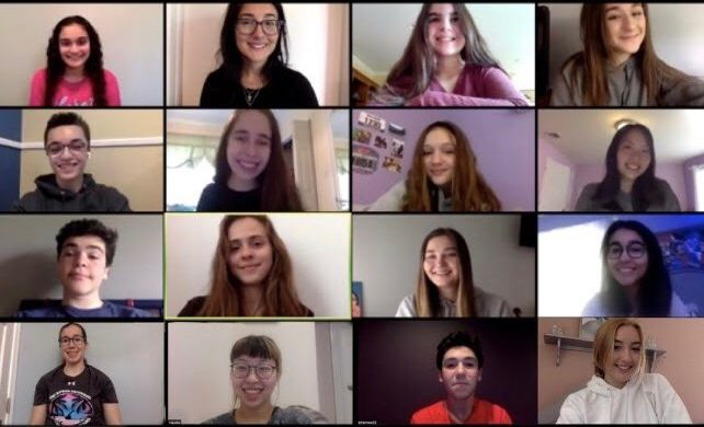 The Trailblazer has chosen its editors for the 2020-21 school year. By row from left to right: Briana Keenan, Vani Apanosian (advisor), Simmie Brisman, Kate Zydor; Jared Mitovich, Riley Solomon, Maeve Rossig, Christina Kim; Daniel Albert, Justine Marinkovic, Mackenzie Blowers, Lauren Eusebio; Izzy Frangiosa, Claudia Kim, Jacob Charnow, and Siera Boffa.