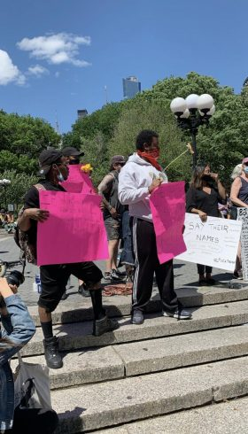 A Black Lives Matter protest in New York City. (Sandy Parkes)