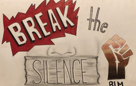 Artwork by Jasmine Delgado, a junior at Hills and a member of the district's equity team.