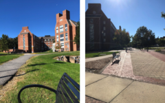 The University of Delaware empty of students due to Covid-19 limitations.