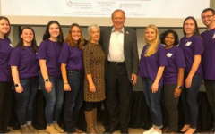 Macaluso, fourth from the left, pictured with her peers and former senator Lesniak at last year's opioid crisis teach-in.