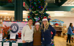 (From left to right): Mrs. Schwartzman, Lutz, and Mahaffey helping out at NJCDC last year.