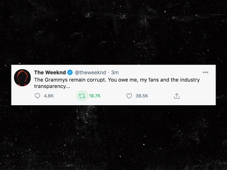 Canadian singer The Weeknd has been at the forefront of the Grammy controversy.