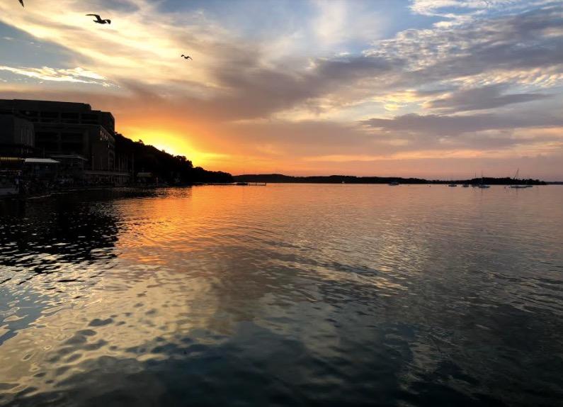 Lake Mendota during the summer.