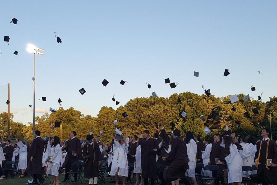 The+2018+Pascack+Hills+graduation.+The+Class+of+2021%27s+graduation+is+currently+scheduled+for+June+16+on+the+football+field.
